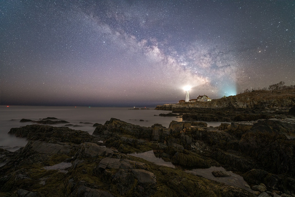 March Milky Way Over Portland Head Light