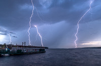 Lightning over The Songo River Queen II