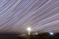 Star Trails at Portland Head Light